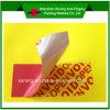 Escrituras de la etiqueta de lacre del cartón del animal doméstico/etiquetas engomadas inalterables