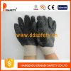 Черный PVC Safety Gloves, Rough Finished Only на Palm (DPV117)