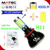 8000lm 80W Single Beam 4300k 6000k H8 H9 H11 DEL Headlight