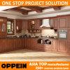 Estilo L cabina de cocina modular de madera del PVC de Brown de la dimensión de una variable (OP15-PP06) de Oppein la India