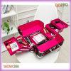 Rosafarbenes Lining Travel Makeup Storage Fall mit Six Trays (SACMC060)