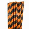 Paja de papel negra anaranjada rayada probada SGS para el partido de Víspera de Todos los Santos