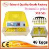 Het houden van Incubator van het Ei van de Kip van 48 Eieren de Automatische Mini voor de Apparatuur van het Gevogelte (ew-48)