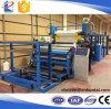Máquina que lamina material del impermeable automático