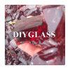 Het rode Gebroken Schroot van het Glas