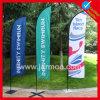 La lágrima de Customed señala la bandera por medio de una bandera para la promoción y Advantise