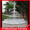 Une plus grande fontaine d'eau de jardin en pierre de marbre blanc bon marché