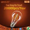 Ampola de vidro do diodo emissor de luz do espaço livre do bulbo do filamento do diodo emissor de luz de A60 110V E27 4With6With8W