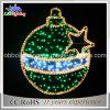 Luzes do motivo da esfera do verde da luz do motivo do Natal do diodo emissor de luz 2D
