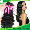 Trama humana do cabelo de Remy da qualidade superior da venda por atacado da fábrica do cabelo de Aofa