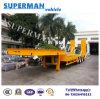 80t della piattaforma basso/di Lowbed del caricatore del carico rimorchio basso idraulico del camion semi