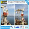Кран гидровлического телескопичного заграждения морской с BV, CCS, краном морского пехотинца заграждения костяшки сертификата ABS