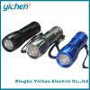 Linterna del aluminio 9 LED de la dimensión de una variable del bowling (YC703WA-9L)