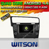 Carro DVD do Android 4.4 de Witson para o golfe 7 2013-2015 da VW (W2-A6921) com sustentação do Internet DVR da ROM WiFi 3G do chipset 1080P 8g