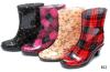 Schoenen van de Hiel van de Vrouwen van de Laarzen van de Regen van de Manier van pvc de Hoge