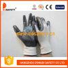 Белое Nylon с Black Nitrile Glove-Dnn336