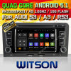 Carro DVD GPS do Android 5.1 de Witson para Audi A3 com sustentação do Internet DVR da ROM WiFi 3G do chipset 1080P 16g (A5763)