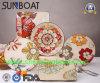 Prato do esmalte Hand-Painted/placa jantar vegetais da cozinha