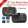 Черный ящик 2017 автомобиля промотирования с 1.5  автомобиль DVR, камкордер автомобиля 5.0mega, камера DVR-1503 черточки HD1080p