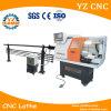 소형 금속 수평한 CNC 선반 기계