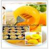 Pesche inscatolate fresche, pesche gialle inscatolate, conserva di frutta