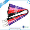 Screen di seta Printed Lanyard con Metal J Hook