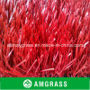 Tappeto erboso artificiale rosso di asilo ad alta densità