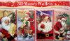 Navidad Santa 3D Glitter Money Wallet