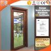 Puerta de madera del patio de la alta calidad china con revestimiento de aluminio exterior