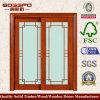 Cozinha que desliza a porta de madeira de vidro da entrada (XS3-021)