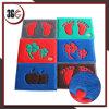Couvre-tapis de modèle de couleur de double de bobine de PVC pour la porte utile extérieure et d'entrée