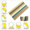 Sciarpa giallo cuoio su ordinazione del tubo di Microfiber di multi stile senza giunte funzionale