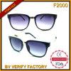 Изготовленные солнечные очки квадрата новых продуктов F2000 смешанные материальные