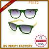 Os óculos de sol de bambu naturais novos do templo com Shinny o frame F5472