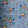 Denim stampato Fabric con Flower Pattern (Art#UTX80123)