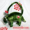 Plüsch scherzt Beutel-grüne Dinosauriere