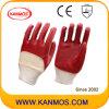 Luvas mergulhadas PVC do trabalho da segurança industrial do Anti-Óleo (51101)