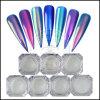 超クロムミラーの釘の芸術カラー転移の粉