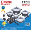 Reeks van de Reeks van het Aluminium van de Gietvorm van de Matrijs Cookware van Dessini 23PCS de Vastgestelde Pan Nonstick Pan