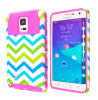 Mobile Phone Accessories Slim Armor Tank Case Blue White Chevron Cover for Samsung Galaxy Note Edge