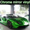 Chrome verde Mirror Vinyl Film con Air Free Bubbles