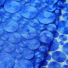 金ロープとの青空の車輪様式の刺繍の設計