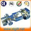 Azionamento del USB della vettura da corsa, disco del USB del veicolo per il trasporto del metallo, azionamenti istantanei del pollice del USB dell'automobile d'argento