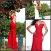 背部が開いた薄いイブニング・ドレスのカスタムパーティー向きのドレスE92217
