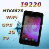 Telefone esperto capacitivo da tevê WiFi GPS da tela de toque Android I9220 Zoho MTK6575 4.0 3G 5.2
