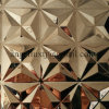 Hoja decorativa del acero inoxidable del final 4X8 de Embossed+Mirror para los paneles de pared