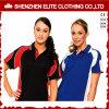 Camisas de polo do golfe do Spandex do poliéster das senhoras para as mulheres (ELTMPJ-610)
