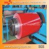 La couleur principale de la qualité Dx51d PPGI a enduit la bobine en acier galvanisée enduite d'une première couche de peinture