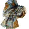 100% Worsted Wool Printed Stole Shawl (AHY30004109)