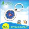 Trousseau de clés Shaped rond fait sur commande en métal de vente chaude bon marché